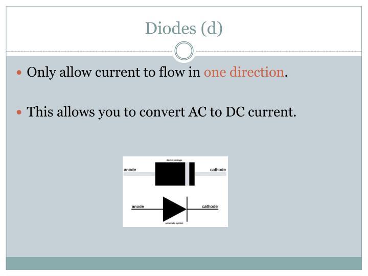Diodes (d)