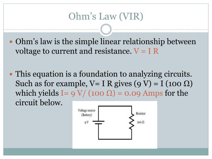 Ohm's Law (VIR)
