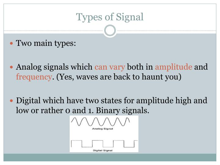 Types of Signal