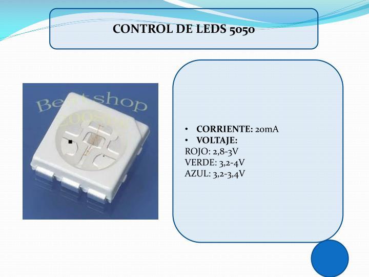 CONTROL DE LEDS 5050