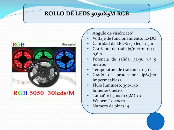 ROLLO DE LEDS 5050X5M RGB
