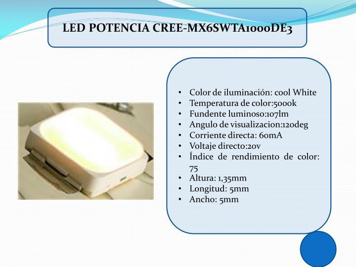 LED POTENCIA CREE-MX6SWTA1000DE3