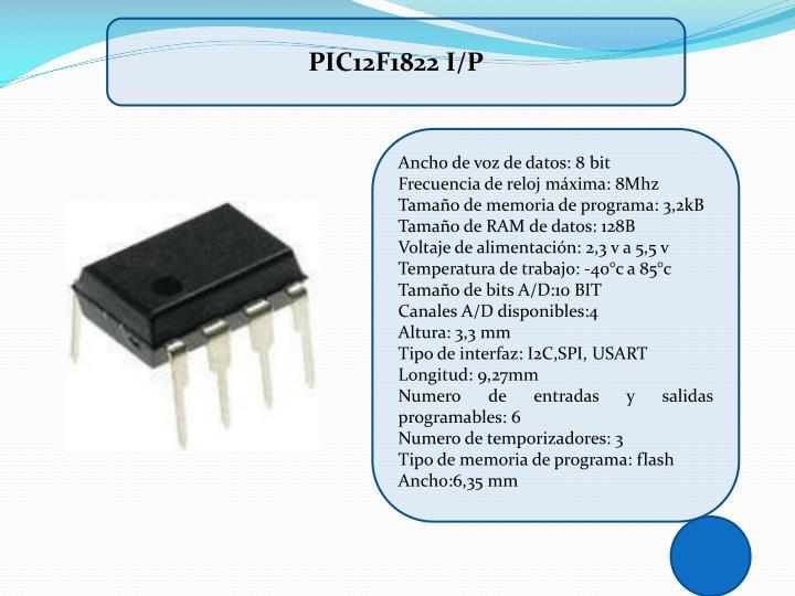 PIC12F1822 I/P