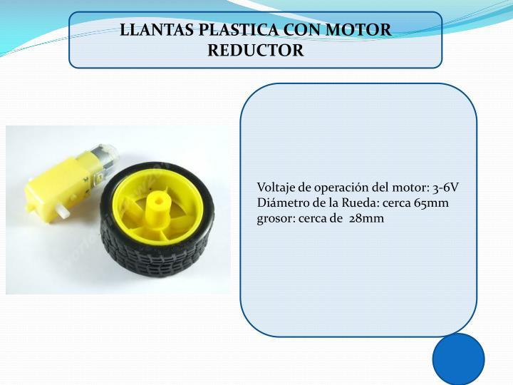 LLANTAS PLASTICA CON MOTOR REDUCTOR
