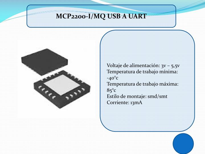 MCP2200-I/MQ USB A UART