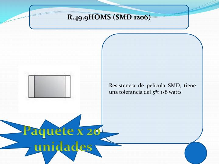 R.49.9HOMS (SMD 1206)