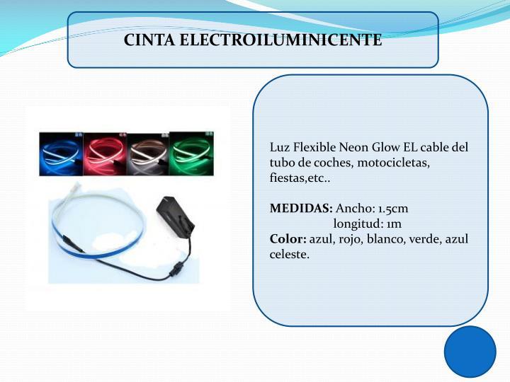 CINTA ELECTROILUMINICENTE