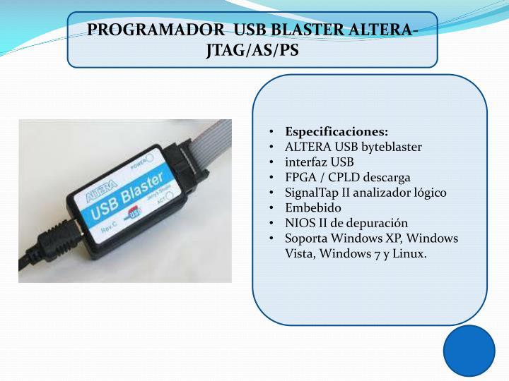 PROGRAMADOR  USB BLASTER ALTERA-JTAG/AS/PS