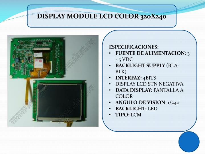 DISPLAY MODULE LCD COLOR 320X240