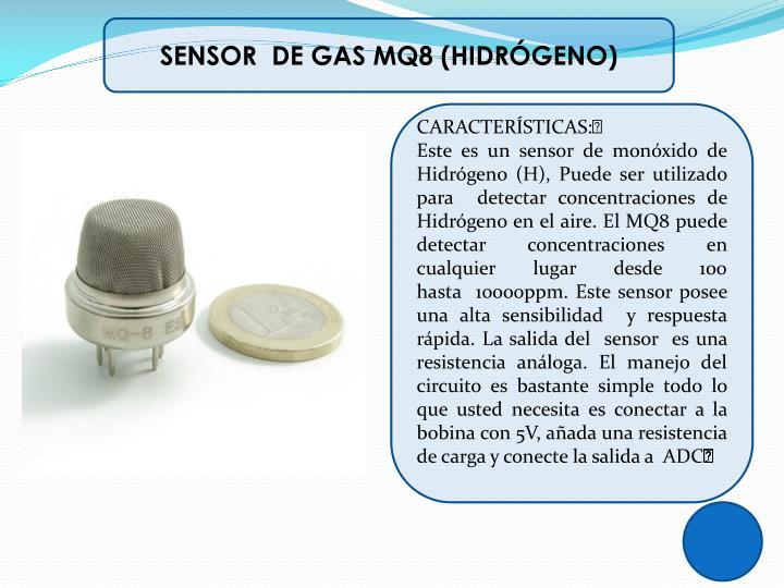 SENSOR  DE GAS MQ8 (HIDRÓGENO)