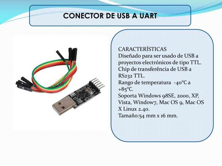 CONECTOR DE USB A UART