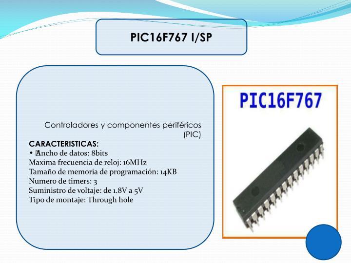 PIC16F767 I/SP