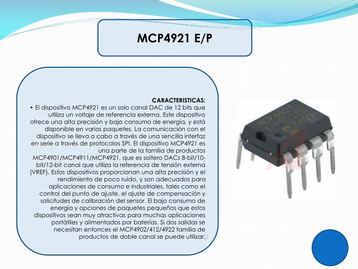 MCP4921 E/P