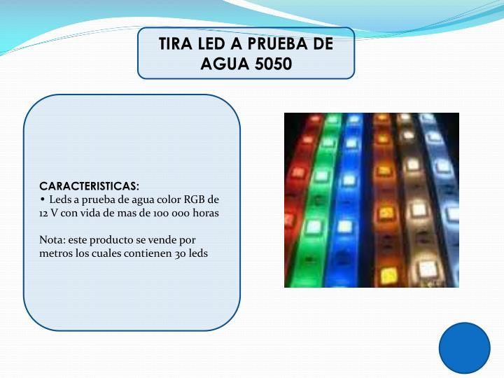 TIRA LED A PRUEBA DE AGUA 5050