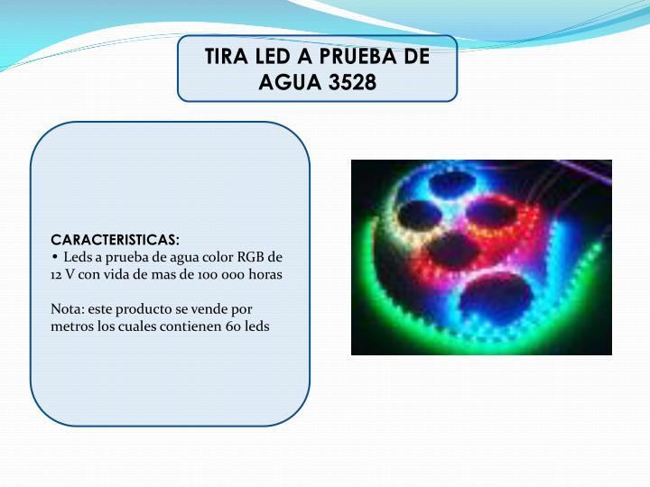 TIRA LED A PRUEBA DE AGUA 3528