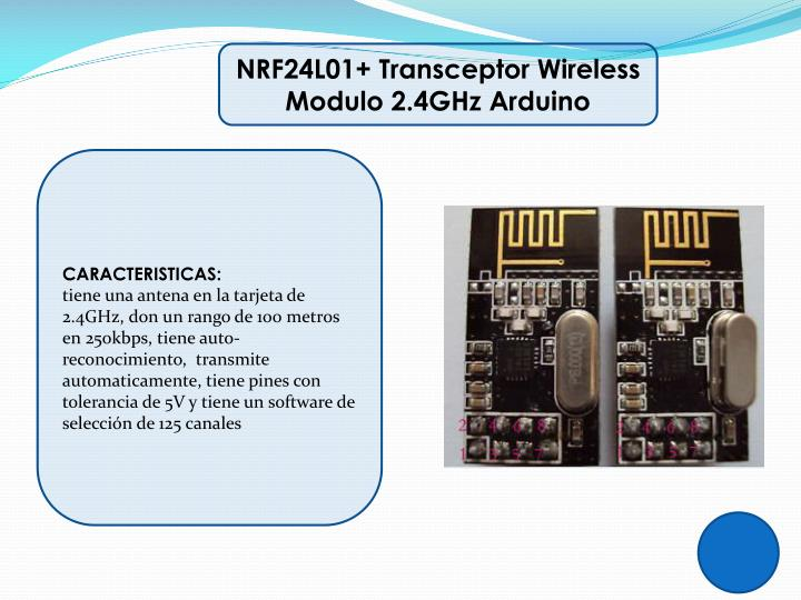NRF24L01+ Transceptor
