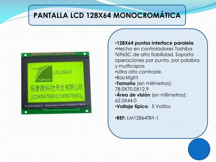 PANTALLA LCD 128X64 MONOCROMÁTICA