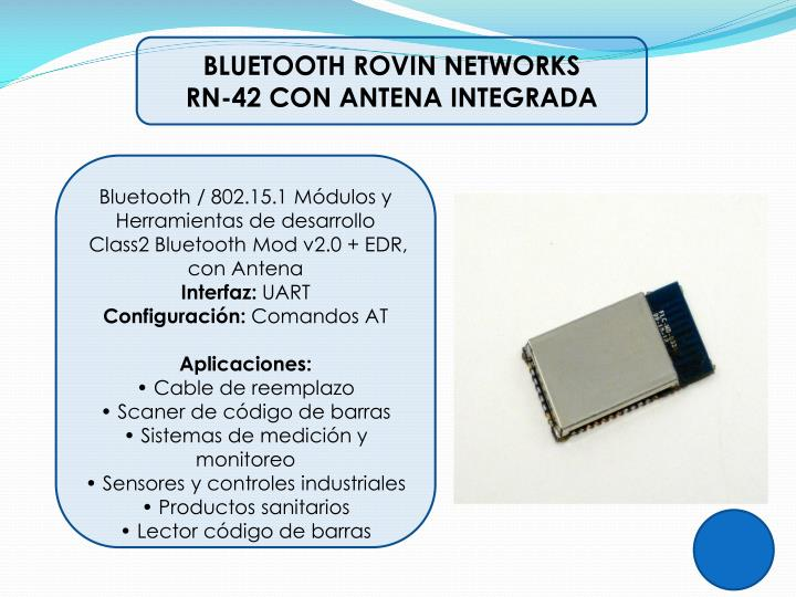 BLUETOOTH ROVIN NETWORKS