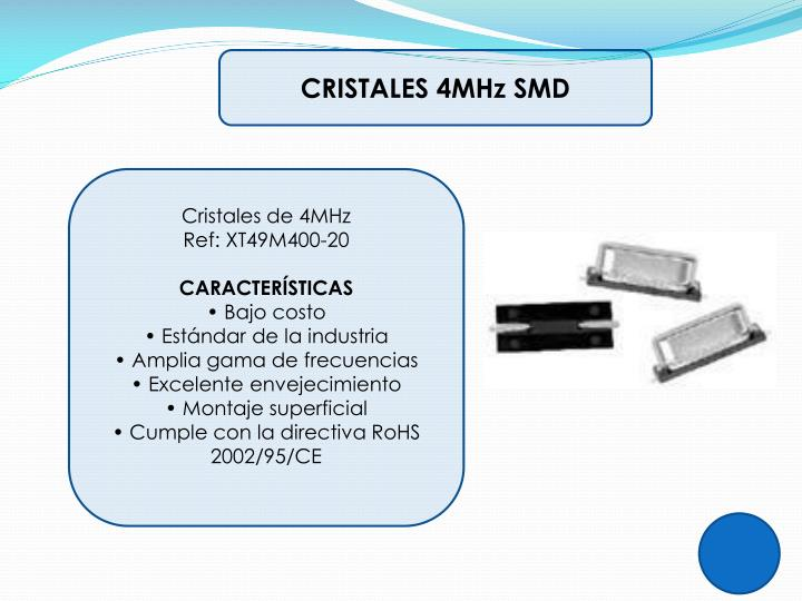 CRISTALES 4MHz SMD