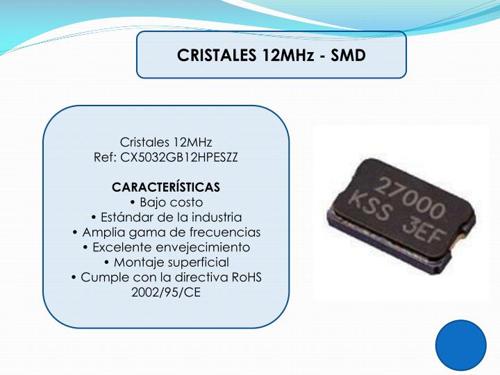 CRISTALES 12MHz - SMD