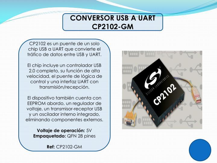CONVERSOR USB A UART CP2102-GM