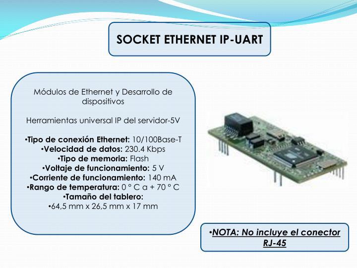 SOCKET ETHERNET IP-UART