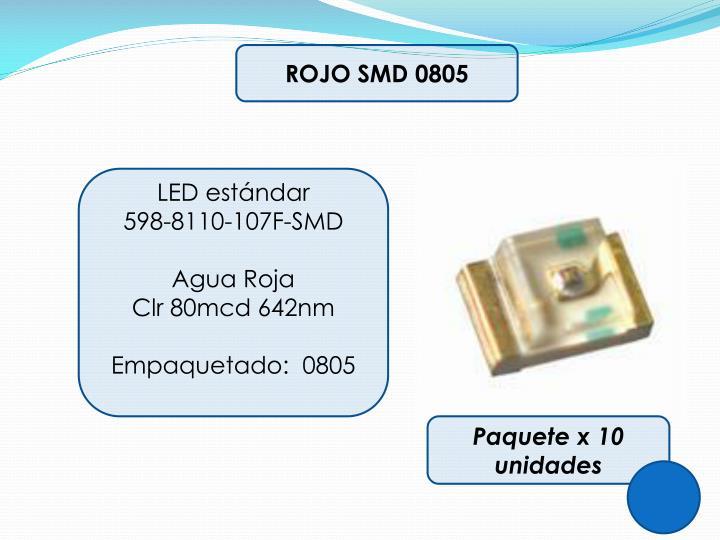 ROJO SMD 0805