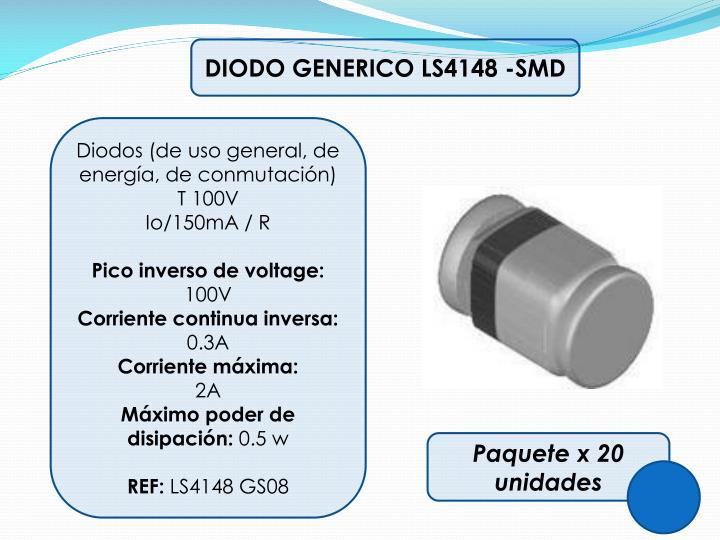 DIODO GENERICO LS4148 -SMD