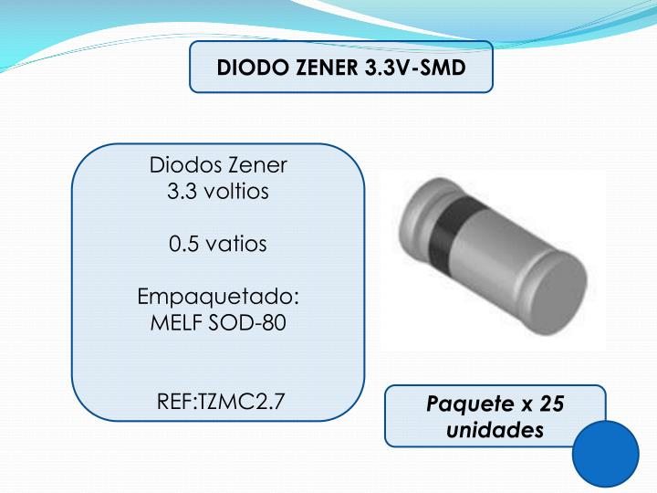 DIODO ZENER 3.3V-SMD