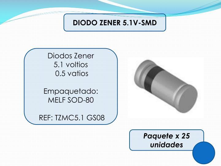 DIODO ZENER 5.1V-SMD