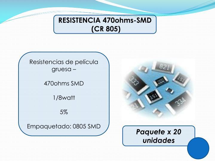 RESISTENCIA 470ohms-SMD