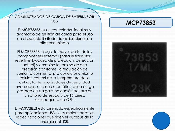 ADMINISTRADOR DE CARGA DE BATERIA POR USB