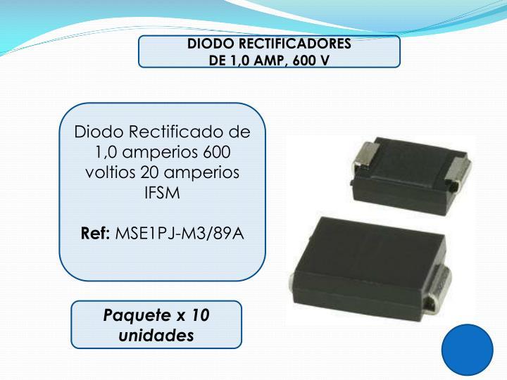 DIODO RECTIFICADORES
