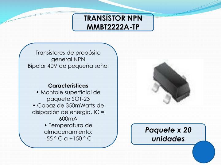 TRANSISTOR NPN MMBT2222A-TP