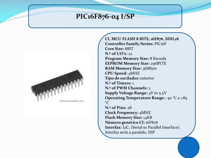 PIC16F876-04 I/SP