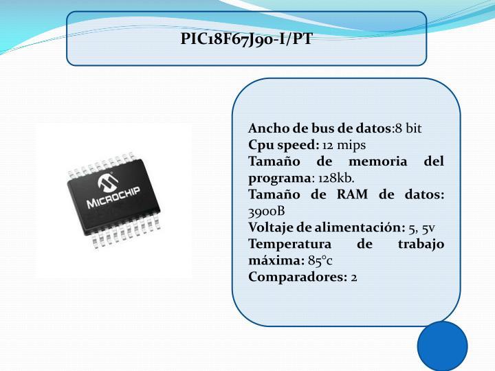 PIC18F67J90-I/PT