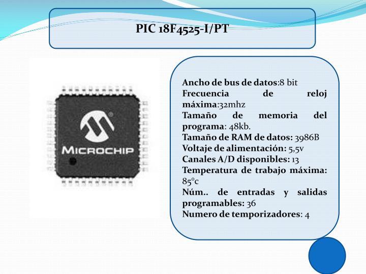 PIC 18F4525-I/PT