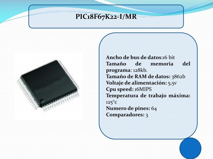 PIC18F67K22-I/MR