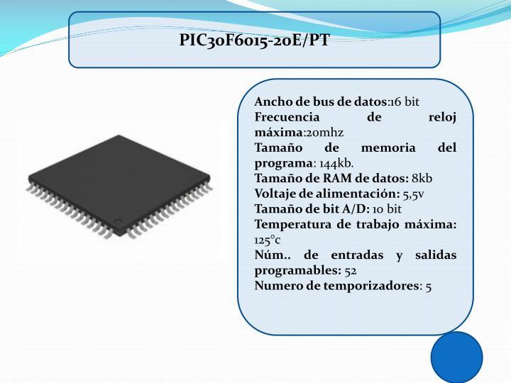 PIC30F6015-20E/PT