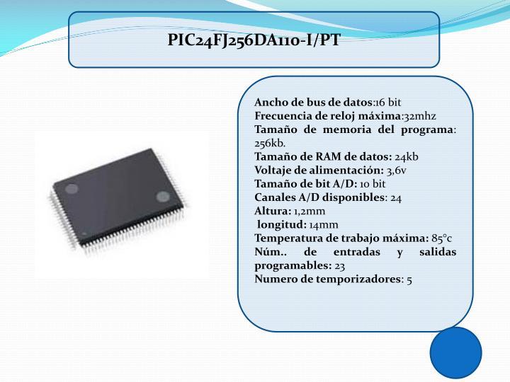 PIC24FJ256DA110-I/PT