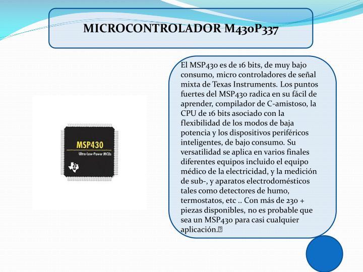 MICROCONTROLADOR M430P337