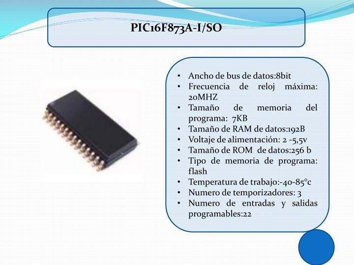 PIC16F873A-I/SO