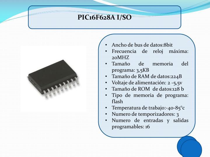 PIC16F628A I/SO
