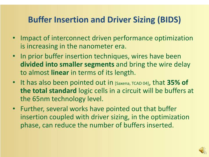 Buffer Insertion and Driver Sizing (BIDS)