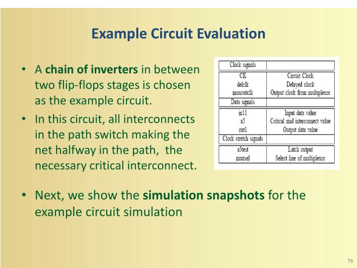 Example Circuit Evaluation
