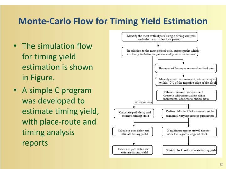 Monte-Carlo Flow for Timing Yield Estimation