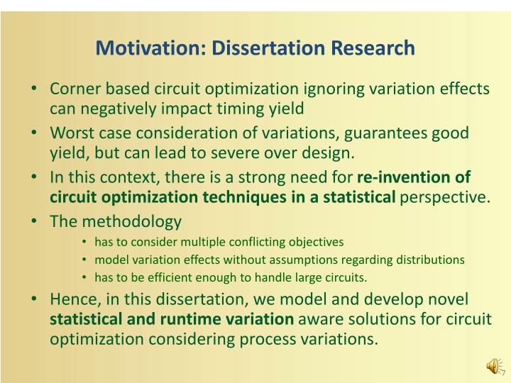 Motivation: Dissertation Research