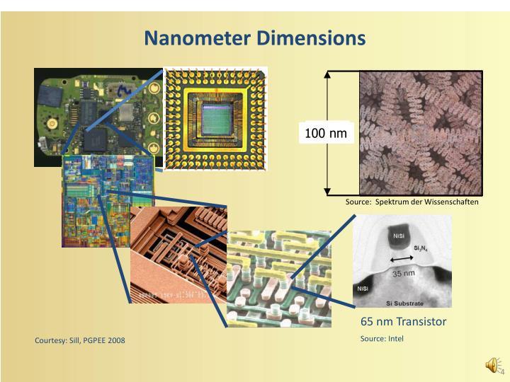 Nanometer Dimensions