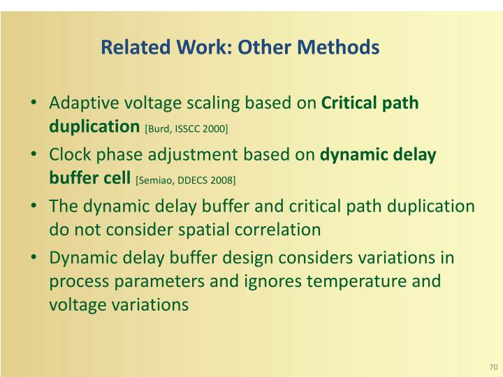 Related Work: Other Methods