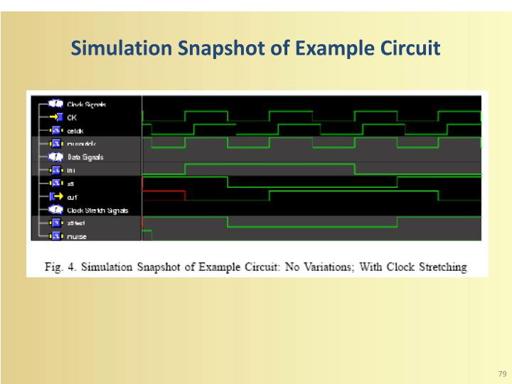 Simulation Snapshot of Example Circuit